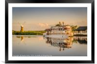 Paddle Boat Southern Comfort, Framed Mounted Print