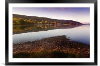 A quiet morning on Coniston, Framed Mounted Print