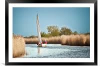Yachting on the River Thurne, Framed Mounted Print