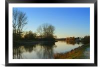 The River Trent at Sunset, Framed Mounted Print