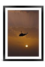 The going down of the sun, Framed Mounted Print