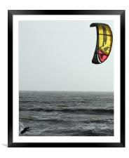 Kite-surfin., Framed Mounted Print