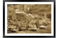 Witing for the tide., Framed Mounted Print