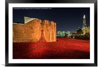 Tower of London Poppies, Framed Mounted Print