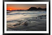 Holding Back the Sea, Framed Mounted Print