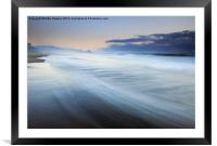 Down the Beach, Framed Mounted Print