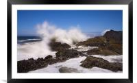The Sea Erupts, Framed Mounted Print