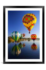 Balloons Reflections, Framed Mounted Print