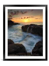 Pools of Paradise, Framed Mounted Print