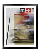 Focus On The Finish, Framed Mounted Print