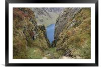 Ravine in Wales, Framed Mounted Print