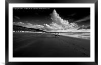 Footprints in the sand , Framed Mounted Print