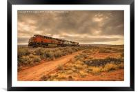 New Mexico Freight , Framed Mounted Print