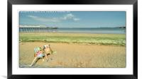 On the Beach , Framed Mounted Print