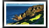 Crown Tin mines of Botallack, Framed Mounted Print