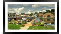 Diglis Basin , Framed Mounted Print