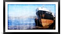 Boat waiting to sail, Framed Mounted Print