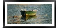 Fishing Boat and seabird, Framed Mounted Print