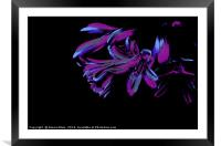 Abstract of purple and pink, Framed Mounted Print