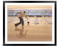 10 Pin Bowling, Framed Mounted Print