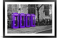 Purple Phone Boxes, Framed Mounted Print