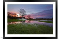 Coltishall Flood Reflections, Framed Mounted Print
