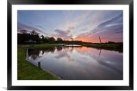 Winter Sunrise in Coltishall, Framed Mounted Print