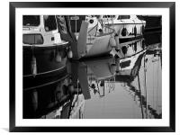Refelctive Times B&W, Framed Mounted Print
