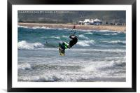 Kitesurfing, Framed Mounted Print
