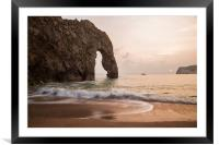 Sunset at Durdle Door, Framed Mounted Print