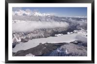 View of frozen Lake Bohinj as seen from Vogel., Framed Mounted Print