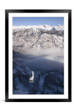 View of Julian Alps from Vogel mountain., Framed Mounted Print