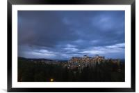 Storm clouds gather, Framed Mounted Print