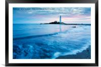 Saint Mary's Lighthouse at Whitley Bay, Framed Mounted Print