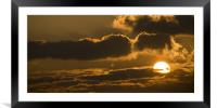 Sunset in the heavens, Framed Mounted Print