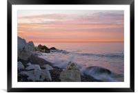 Sunrise at the White Cliffs of Dover, Framed Mounted Print