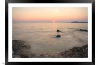 The beautiful Istrian coastline, Framed Mounted Print