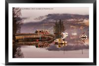Misty morning reflections of Loch Ness, Framed Mounted Print