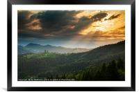 Church of Saint Thomas at sunrise, Framed Mounted Print