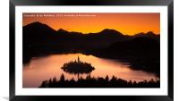 Lake Bled from Ojstrica at sunrise, Framed Mounted Print