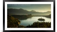 View of Lake Bled from Ojstrica, Framed Mounted Print
