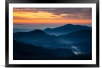 Sunrise view across to Sv Jost from the Jamnik Hil, Framed Mounted Print