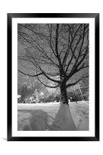 Tree and snow, Framed Mounted Print