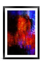 Abstraction, Framed Mounted Print