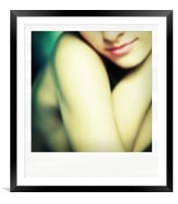 Lips, Framed Mounted Print