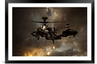 Apache storm, Framed Mounted Print