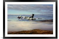 Vulcan XH558 over Snowdonia, Framed Mounted Print