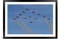 Red Arrows and Eagle Squadron, Framed Mounted Print