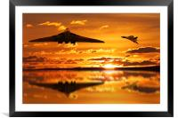 Vulcan Bomber Sunset, Framed Mounted Print