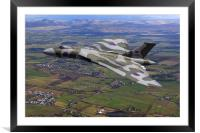 Vulcan Bomber XJ824 Scotland, Framed Mounted Print